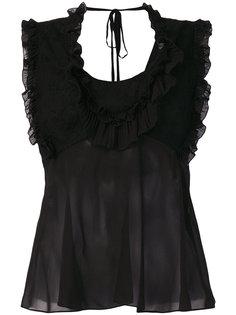 прозрачная блузка с открытой спиной Roberto Cavalli