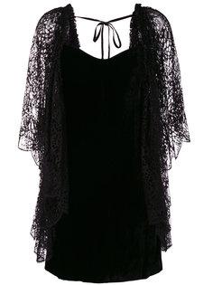 платье с кружевной деталью Roberto Cavalli