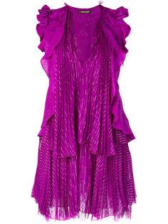 драпированное мини-платье Roberto Cavalli