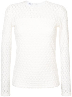 embroidered long-sleeve top  Akris Punto