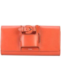 buckle handle clutch bag Perrin Paris