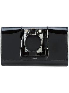 front buckle clutch bag Perrin Paris