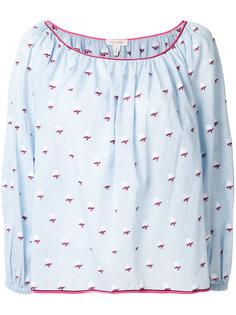 блузка в пейзанском стиле с узором Marc Jacobs