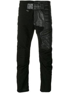 байкерские брюки с кожаными вставками Haider Ackermann
