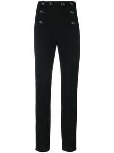 классические брюки с декоративными пуговицами Alberta Ferretti