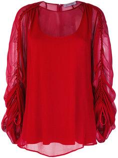 прозрачная блузка с присборенными рукавами Sportmax