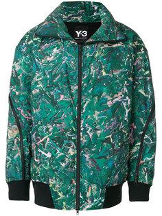 пальто-пуховик с принтом Y-3