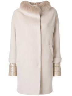 пальто с меховым воротником  Herno
