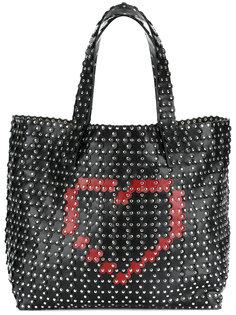 сумка-тоут с заклепками Red Valentino