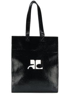 сумка-тоут с принтом логотипа Courrèges