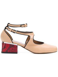 туфли с перекрещенными ремешками Marni