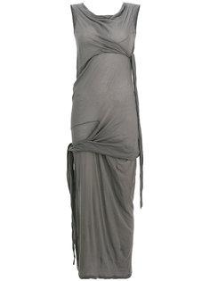 платье-шифт с запахом Rick Owens DRKSHDW