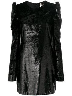 платье по фигуре с металлическим блеском Saint Laurent