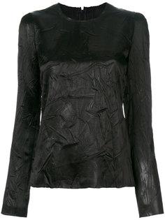 блузка с длинными рукавами с мятым эффектом  Maison Margiela