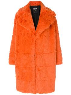 меховое пальто MSGM