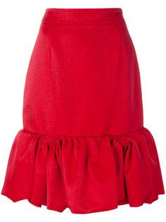 юбка с оборкой  Prada