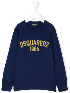 толстовка с логотипом Dsquared2 Kids