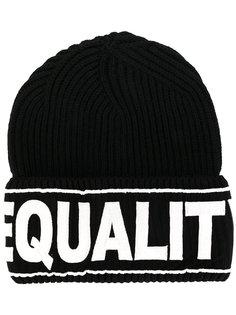 шапка с вышивкой Equality Versace