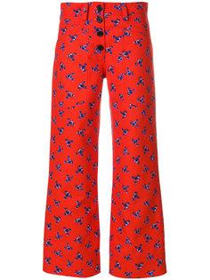 укороченные брюки с цветочным рисунком Kenzo