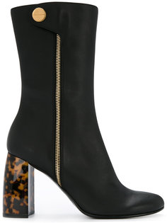 ботинки на каблуке с эффектом черепашьего панциря Stella McCartney