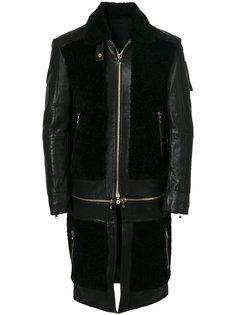 пальто с панельным дизайном Balmain