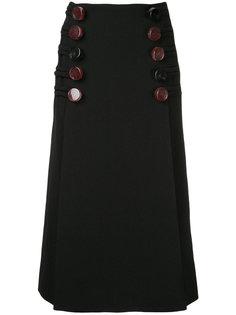 облегающая юбка с декоративными пуговицами Christopher Esber