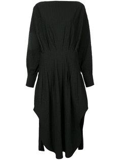 платье-рубашка с присборенной отделкой Christopher Esber