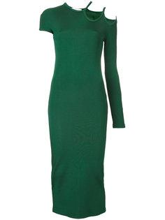 платье с резным дизайном на плече Christopher Esber
