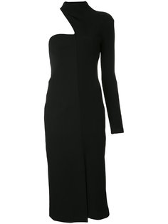 асимметричное платье в рубчик Christopher Esber