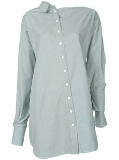 полосатая асимметричная рубашка Christopher Esber