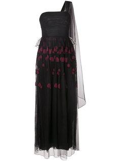 сетчатое платье с вышитым декором Ingie Paris