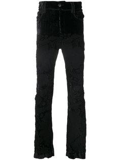 брюки кроя слим с вышивкой Di Liborio