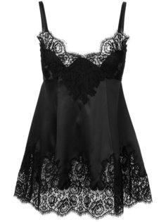 топ на бретельках с кружевной вставкой  Dolce & Gabbana Underwear