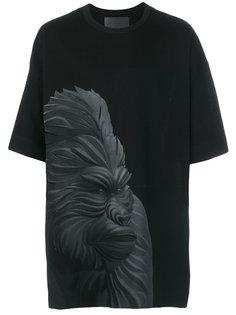 футболка с принтом гориллы Juun.J