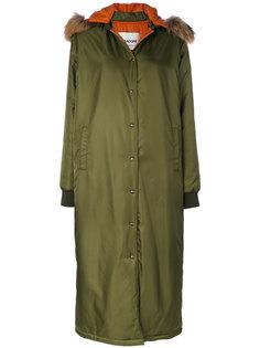 удлиненное пальто с капюшоном Ava Adore