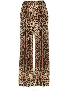 широкие брюки с леопардовым принтом  Dolce & Gabbana