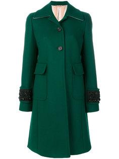 пальто с декором на манжетах Nº21