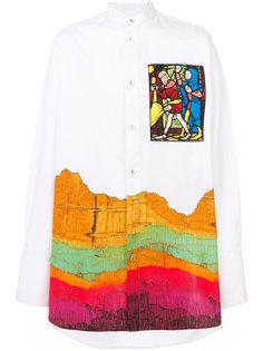 рубашка с воротником-мандарин JW Anderson