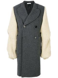 пальто с трикотажными рукавами JW Anderson