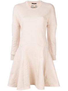 платье-толстовка с расклешенной юбкой Alexander McQueen