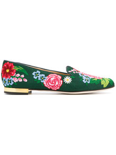 лоферы Floral Charlotte Olympia