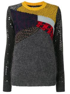 """свитер дизайна """"пэчворк"""" Junya Watanabe Comme Des Garçons"""