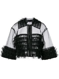 укороченный жакет с отделкой оборками Comme Des Garçons Noir Kei Ninomiya