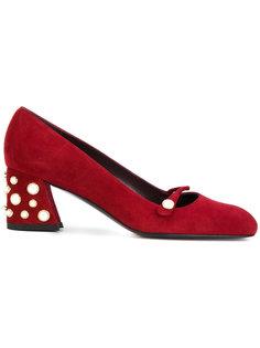 декорированные туфли Stuart Weitzman