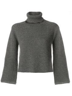 свитер со съемным воротником с заворотом Federica Tosi