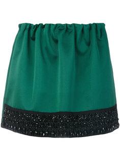 мини-юбка с отделкой бисером  Nº21