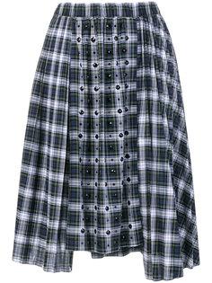 клетчатая юбка с блестящим декором Nº21