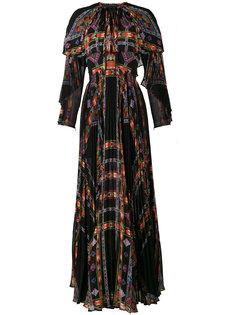 плиссированное платье макси  Etro