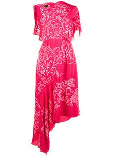 платье с вышитыми лавровыми листьями Peter Pilotto