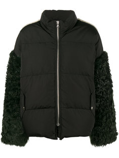 пальто Eldridge с перьями на рукавах Sandy Liang